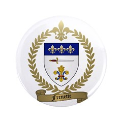 "FRENETTE Family Crest 3.5"" Button"