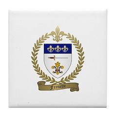FRENETTE Family Crest Tile Coaster