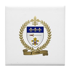 FRENETTE Family Crest Tile Coaster