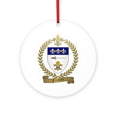 FRENETTE Family Crest Ornament (Round)