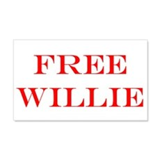 FREE WILLIE NELSON 20x12 Wall Peel
