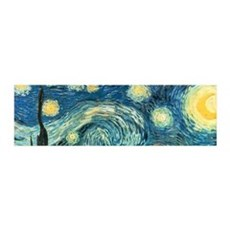 Vincent van Gogh's Starry Night 36x11 Wall Peel