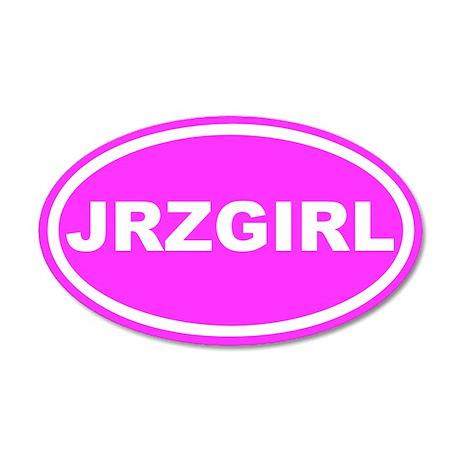 JRZ GIRL Jersey Girl Pink Euro 35x21 Oval Wall Pee