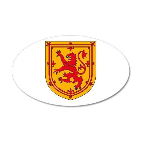 Scotland Coat of Arms 35x21 Oval Wall Peel