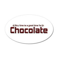 Any Time Chocolate 20x12 Oval Wall Peel