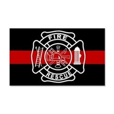 Firefighter Thin Red Line 20x12 Wall Peel