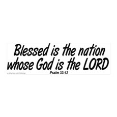 Blessed is the Nation 36x11 Wall Peel