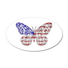 American Butterfly 20x12 Oval Wall Peel