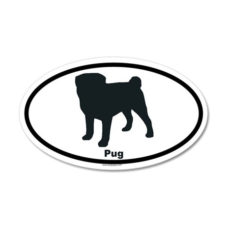 PUG 35x21 Oval Wall Peel
