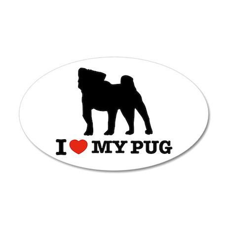 I love my Pug 35x21 Oval Wall Peel