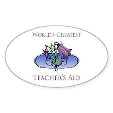 World's Greatest Teacher's Aid (Flower) Decal