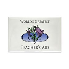 World's Greatest Teacher's Aid (Flower) Rectangle