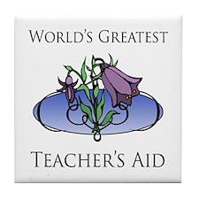 World's Greatest Teacher's Aid (Flower) Tile Coast