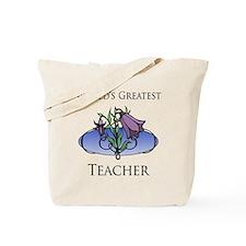 World's Greatest Teacher (Flower) Tote Bag