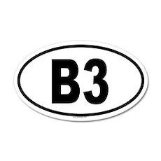 B3 20x12 Oval Wall Peel