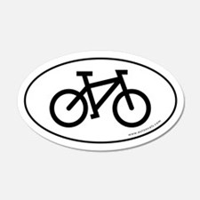 Bicycle (cycling) Auto Decal -White (Oval)