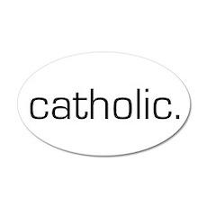 Catholic 20x12 Oval Wall Peel
