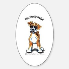 Boxer Manipulate Sticker (Oval)