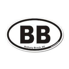 Bethany Beach Delaware BB Euro 20x12 Oval Wall Pee