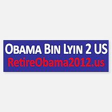 Obama Bin Lyin 2 US Sticker (Bumper)