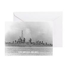 USS BRYANT Greeting Card