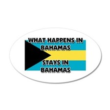 What Happens In BAHAMAS Stays There Wall Decal