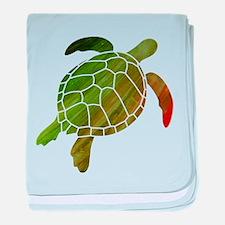 Swimming Turtle baby blanket