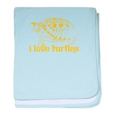 I Love Turtles baby blanket