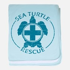 Sea Turtle Rescue baby blanket