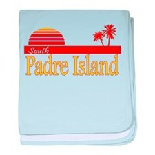 South Padre Island baby blanket