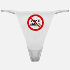 No More Fake Media Classic Thong