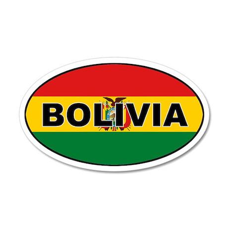 Bolivian Flag 35x21 Oval Wall Peel