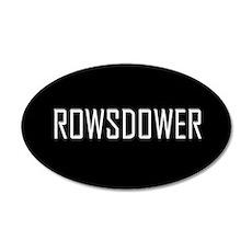 Rowsdower 20x12 Oval Wall Peel
