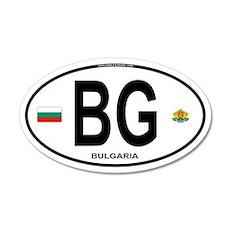 Bulgaria Euro Oval 20x12 Oval Wall Peel