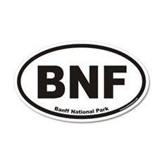 Banff National Park BNF Euro 20x12 Oval Wall Peel