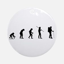 Hiker Evolution Ornament (Round)