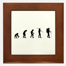 Hiker Evolution Framed Tile