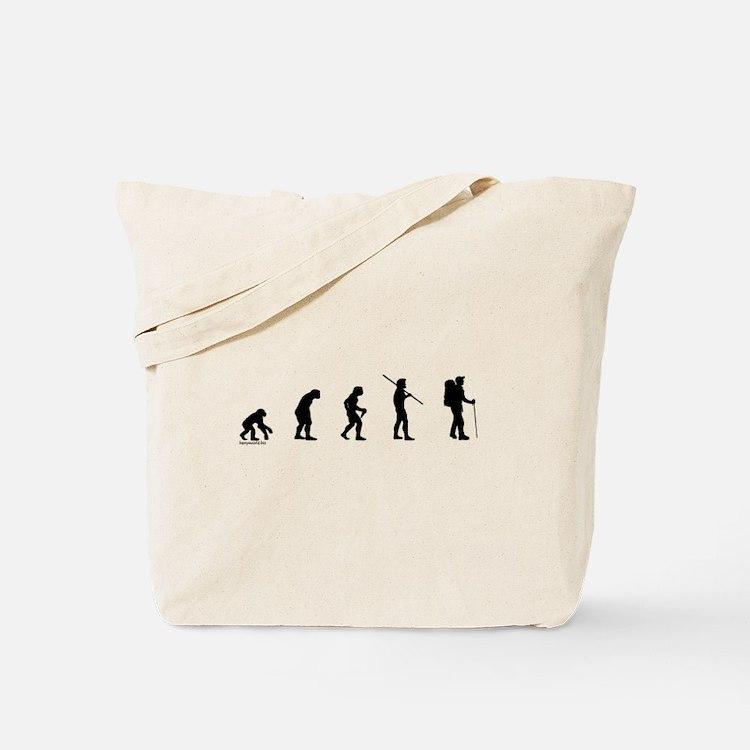 Hiker Evolution Tote Bag