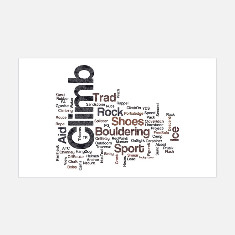 Climbing Words 35x21 Wall Peel