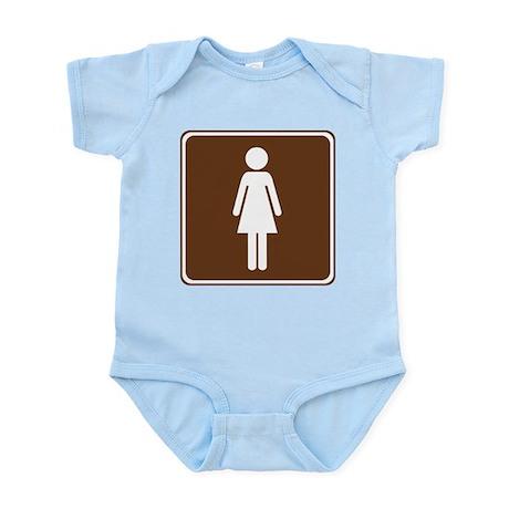 Women's Restroom Sign Infant Bodysuit