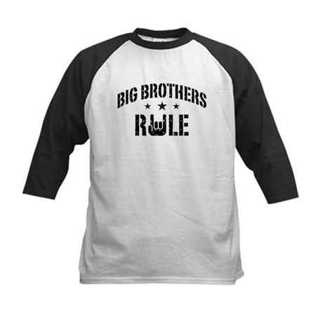 Big Brothers Rule Kids Baseball Jersey