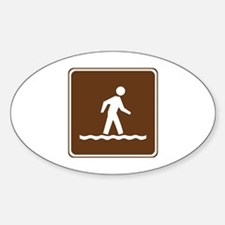 Wading Sign Decal