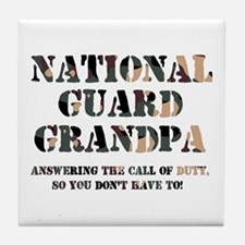 NG Grandpa Answering the Call Tile Coaster