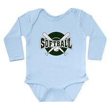 SOFTBALL *1* {green} Long Sleeve Infant Bodysuit