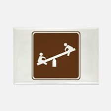 Playground Area Sign Rectangle Magnet (10 pack)