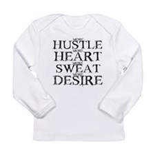 more HUSTLE,more HEART,.... Long Sleeve Infant T-S