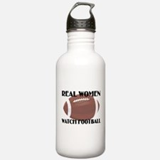 REAL WOMEN WATCH FOOTBALL (1) Water Bottle