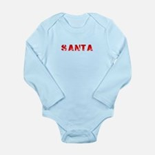 SANTA red Shirts Long Sleeve Infant Bodysuit