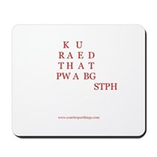 Can you read that back? Mousepad