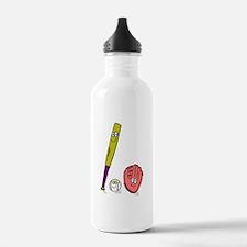 BAT, BALL & GLOVE *3* Water Bottle